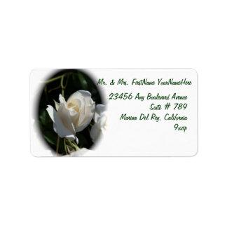 White Rose Address Label