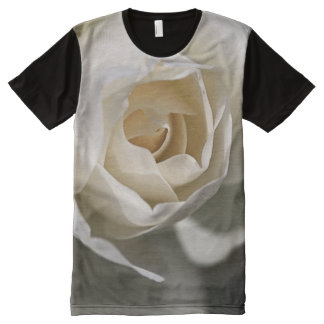 White Rose Love by Bubbleblue All-Over Print T-Shirt
