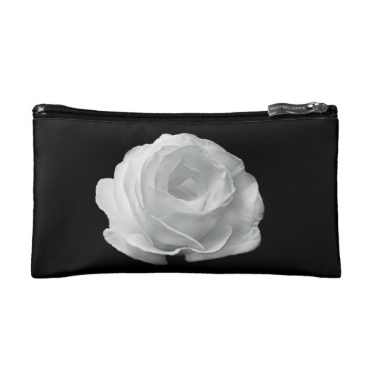 White Rose Makeup Bag