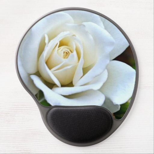 White Rose of Love Gel Mousepads