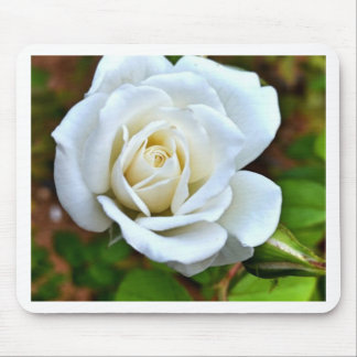 White Rose of Love Mousepads