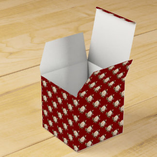 White Rose Pattern (maroon) Favor Box