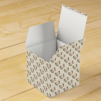 White Rose Pattern (sand) Favor Box