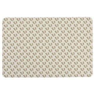 White Rose Pattern (sand) Floor Mat