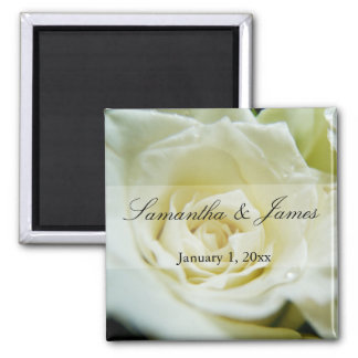 White Rose Personal Wedding Magnet