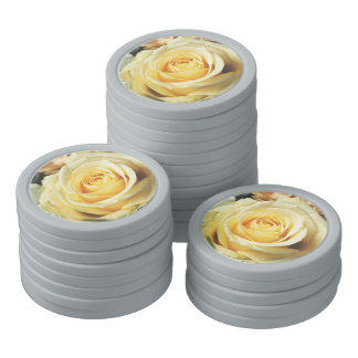 White Rose Poker Chips