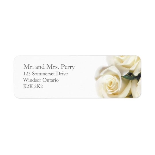 White Rose Print Address Label