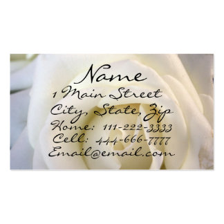 White Rose, Profile Card Pack Of Standard Business Cards