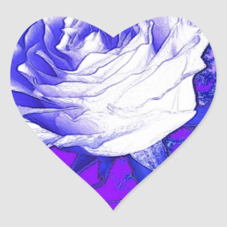 White Rose Purple Gifts by Sharles Art Heart Sticker
