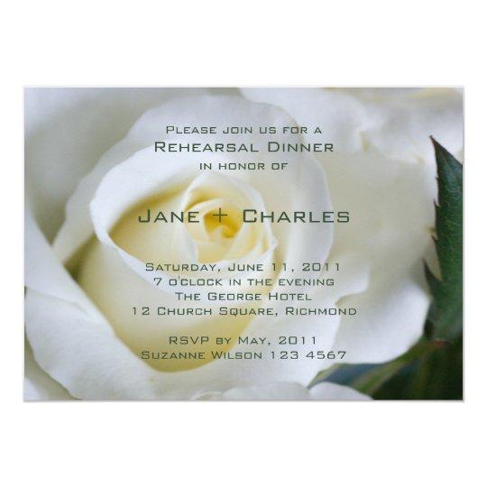 White Rose • Rehearsal Dinner Invitation