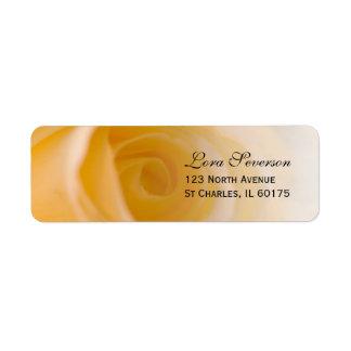White Rose Return Address Label