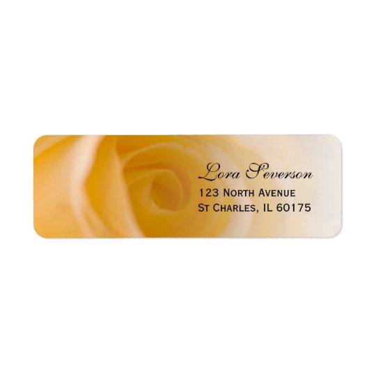 White Rose Return Address Return Address Label