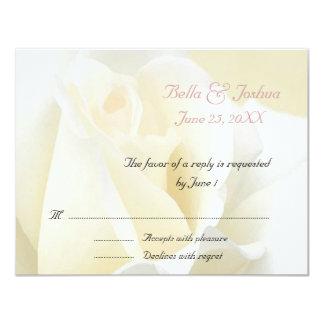 White Rose RSVP Card