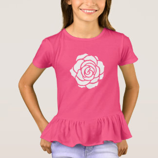 White Rose Ruffle T-Shirt (Child)
