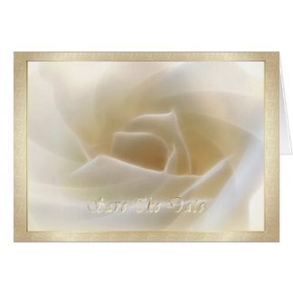 "White Rose ""Save The Date"" Card"