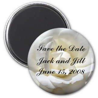 White Rose, Save the Date Magnet