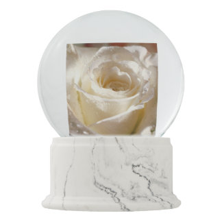 White Rose Snow Globe