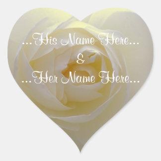 White Rose Stickers Romantic Rose Wedding Stickers