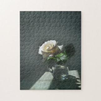 White Rose Symbolism Still Life Jigsaw Puzzle