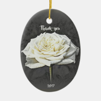 White Rose Thank-you Ornament