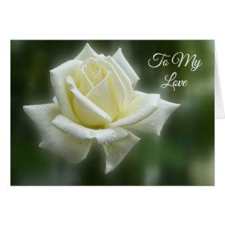 White Rose Valentine Card