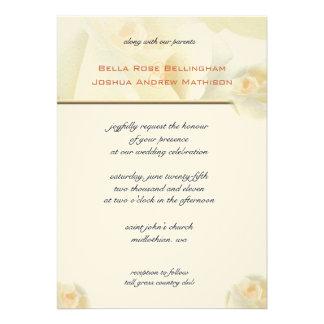 White Rose Wedding Invitation