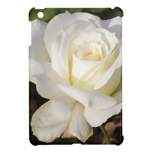 White Rose Wedding January Bridal Party Gifts Case For The iPad Mini