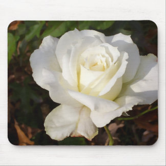 White Rose Wedding January Bridal Party Gifts Mouse Pad
