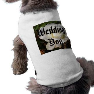 White Rose Wedding January Bridal Party Gifts Sleeveless Dog Shirt