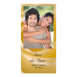 White Rose Wedding Save the Date Photo Card