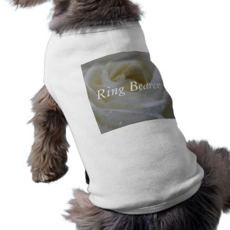 White Rose Wedding Sleeveless Dog Shirt