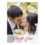 White Rose Wedding Thank You Postcard