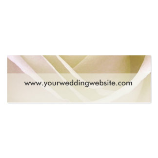 White Rose Wedding Website cards Business Card Template