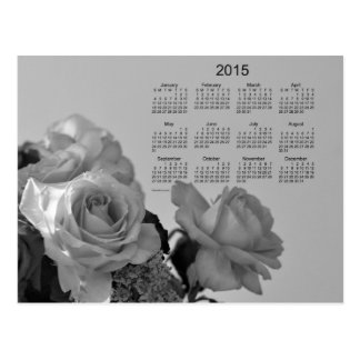 White Roses 2015 Mini Calendar by Janz Post Card