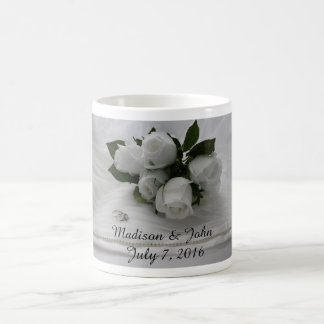 White roses basic white mug