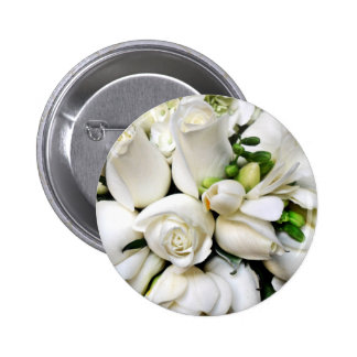 White Roses for any occasion_ Pinback Buttons