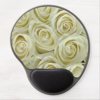 White Roses Gel Mouse Pad