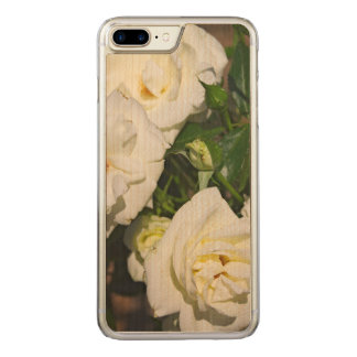 White Roses in Bloom - Flower photography Carved iPhone 8 Plus/7 Plus Case