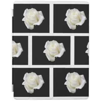 white roses iPad cover