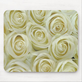 White Roses Mouse Pad