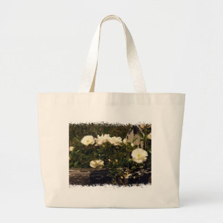 White Roses on a Fence Bag