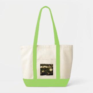 White Roses on a Fence Handbag Canvas Bag