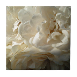 White Roses Painting Small Square Tile