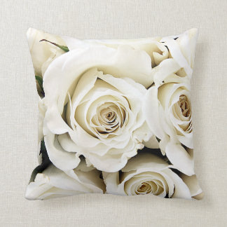 White Roses Pillow