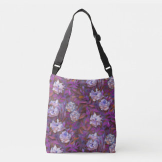 """White roses, purple leaves"", beautiful flowers Tote Bag"