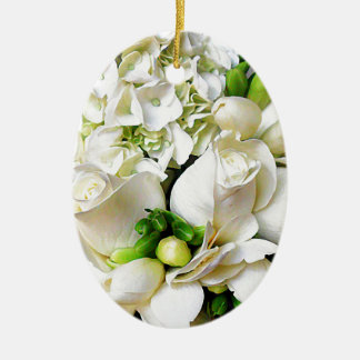 White Roses,Roses of Love_ Christmas Tree Ornament