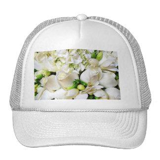 White Roses,Roses of Love_ Mesh Hats