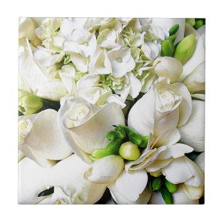 White Roses,Roses of Love_ Ceramic Tile