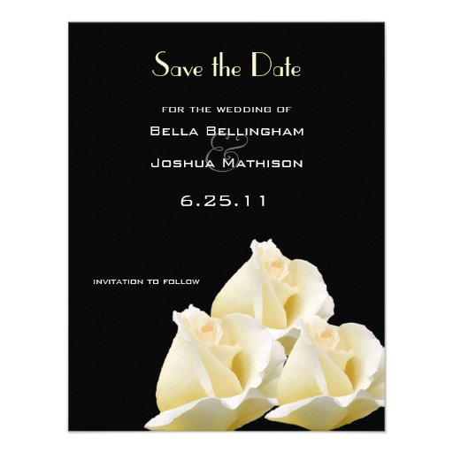 White Roses Save the Date Announcement
