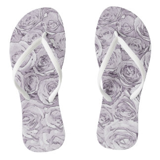 White Roses Thongs